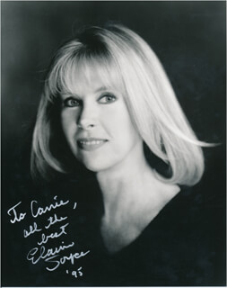 ELAINE JOYCE - AUTOGRAPHED INSCRIBED PHOTOGRAPH 1995