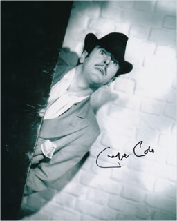 GEORGE COLE - AUTOGRAPHED SIGNED PHOTOGRAPH