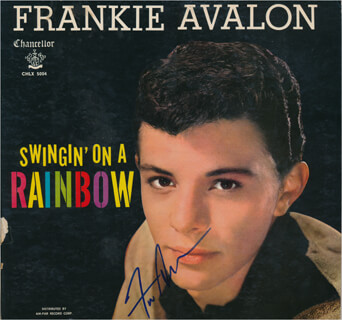 FRANKIE AVALON - RECORD ALBUM COVER SIGNED