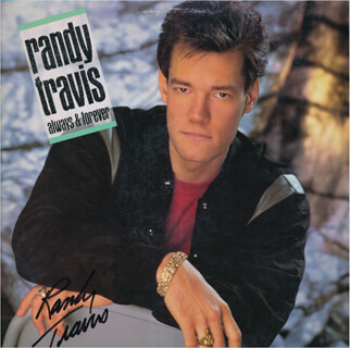 RANDY TRAVIS - RECORD ALBUM COVER SIGNED