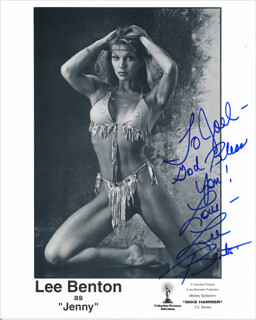 LEE BENTON - INSCRIBED PRINTED PHOTOGRAPH SIGNED IN INK
