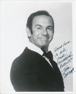 JACK CARTER - AUTOGRAPHED SIGNED PHOTOGRAPH