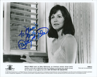 SALLY FIELD - INSCRIBED PRINTED PHOTOGRAPH SIGNED IN INK