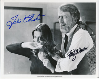 DEMON SEED MOVIE CAST - AUTOGRAPHED SIGNED PHOTOGRAPH CO-SIGNED BY: JULIE CHRISTIE, FRITZ WEAVER