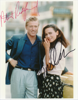 HAVANA MOVIE CAST - AUTOGRAPHED SIGNED PHOTOGRAPH CO-SIGNED BY: ROBERT REDFORD, LENA OLIN