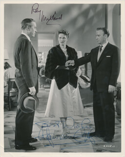 LISBON MOVIE CAST - AUTOGRAPHED SIGNED PHOTOGRAPH CO-SIGNED BY: RAY MILLAND, MAUREEN O'HARA