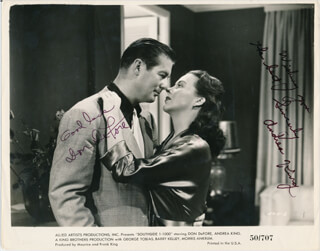 SOUTHSIDE 1-1000 MOVIE CAST - PRINTED PHOTOGRAPH SIGNED IN INK CO-SIGNED BY: ANDREA KING, DON DEFORE
