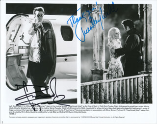HEARTBREAK HOTEL MOVIE CAST - PRINTED PHOTOGRAPH SIGNED IN INK CO-SIGNED BY: TUESDAY WELD, DAVID KEITH