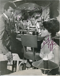 FOR THOSE WHO THINK YOUNG MOVIE CAST - AUTOGRAPHED SIGNED PHOTOGRAPH CO-SIGNED BY: ALLEN JENKINS, JAMES DARREN, PAMELA TIFFIN