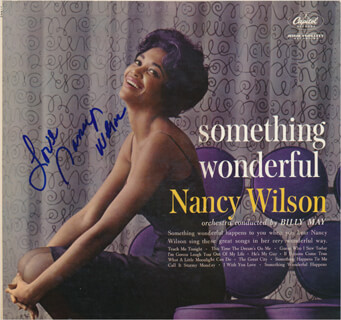 NANCY WILSON - RECORD ALBUM COVER SIGNED