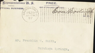 Autographs: CASE BRODERICK - FREE FRANK SIGNED 07/29/1897