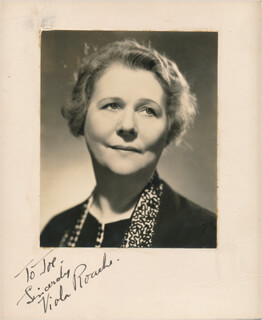 VIOLA ROACHE - INSCRIBED PHOTOGRAPH MOUNT SIGNED