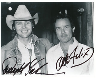 DWIGHT YOAKAM - AUTOGRAPHED SIGNED PHOTOGRAPH CO-SIGNED BY: OTTO FELIX