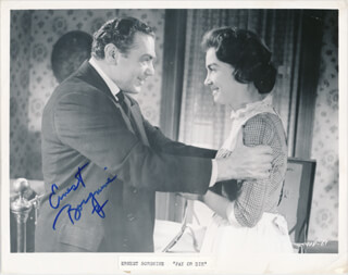 ERNEST BORGNINE - PRINTED PHOTOGRAPH SIGNED IN INK