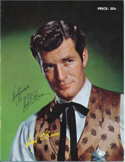 Autographs: HUGH O'BRIAN - MAGAZINE COVER SIGNED