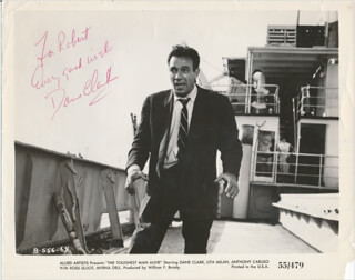 DANE CLARK - INSCRIBED PRINTED PHOTOGRAPH SIGNED IN INK