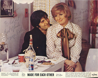 MADE FOR EACH OTHER MOVIE CAST - INSCRIBED PRINTED PHOTOGRAPH SIGNED IN INK CO-SIGNED BY: RENEE TAYLOR, JOSEPH BOLOGNA