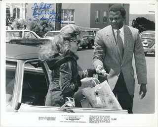 SIDNEY POITIER - INSCRIBED PRINTED PHOTOGRAPH SIGNED IN INK