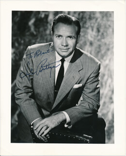 LYLE BETTGER - AUTOGRAPHED INSCRIBED PHOTOGRAPH