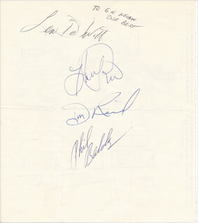 THE STATLER BROTHERS - AUTOGRAPHED INSCRIBED PHOTOGRAPH CO-SIGNED BY: THE STATLER BROTHERS (HAROLD REID), THE STATLER BROTHERS (PHIL BALSEY), THE STATLER BROTHERS (DON REID), THE STATLER BROTHERS (LEW DE WITT)