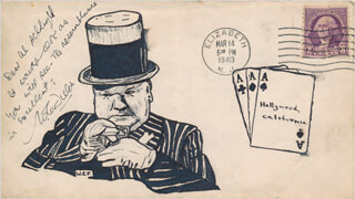 W. C. FIELDS - AUTOGRAPH NOTE SIGNED CIRCA 1940