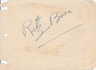 THE RITZ BROTHERS (JIMMY RITZ) - AUTOGRAPH