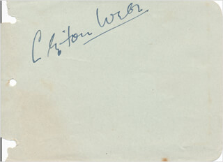 CLIFTON WEBB - AUTOGRAPH