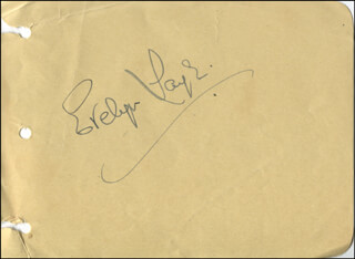 EVELYN LAYE - AUTOGRAPH