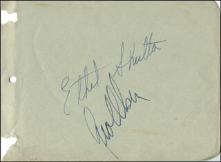 ETHEL SHUTTA - AUTOGRAPH CO-SIGNED BY: GEORGE OLSEN