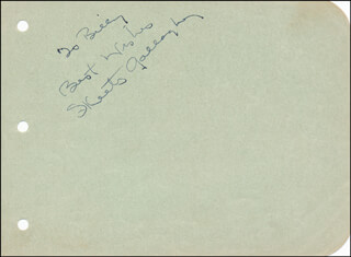 RICHARD SKEETS GALLAGHER - AUTOGRAPH NOTE SIGNED