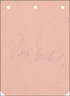 UNA MERKEL - AUTOGRAPH CO-SIGNED BY: DONALD WOODS