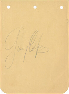 GARY COOPER - AUTOGRAPH CO-SIGNED BY: HARRY GREEN
