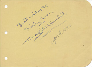 MARGUERITE CHURCHILL - AUTOGRAPH NOTE SIGNED 04/1932