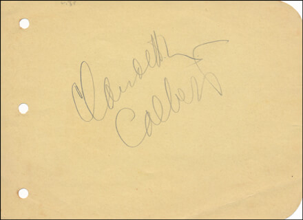 CLAUDETTE COLBERT - AUTOGRAPH CO-SIGNED BY: HELEN MACK