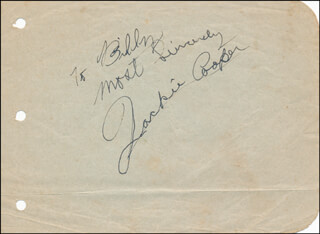 JACKIE COOPER - AUTOGRAPH NOTE SIGNED
