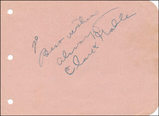 Autographs: CLARK GABLE - AUTOGRAPH NOTE SIGNED CO-SIGNED BY: PRESTON FOSTER