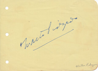 WALTER PIDGEON - AUTOGRAPH CO-SIGNED BY: HEDDA HOPPER