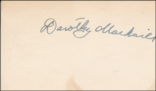 DOROTHY MACKAILL - AUTOGRAPH CO-SIGNED BY: BILL COWBOY RAMBLER BOYD