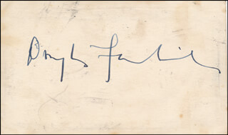 DOUGLAS FAIRBANKS JR. - AUTOGRAPH CO-SIGNED BY: GLORIA SWANSON