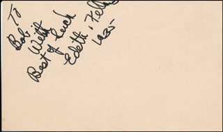 EDITH FELLOWS - AUTOGRAPH NOTE SIGNED 1935