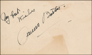 JAMES BARTON - AUTOGRAPH SENTIMENT SIGNED