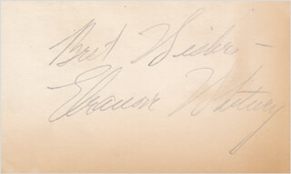 ELEANORE WHITNEY - AUTOGRAPH SENTIMENT SIGNED