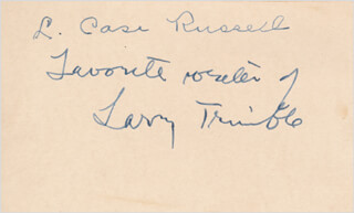 LAURENCE TRIMBLE - AUTOGRAPH NOTE SIGNED