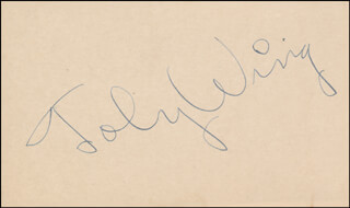 TOBY WING - AUTOGRAPH