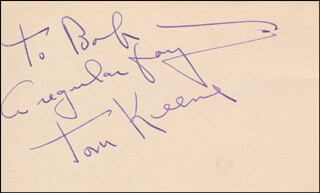 TOM KEENE - AUTOGRAPH NOTE SIGNED