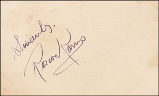 ROSCOE KARNS - AUTOGRAPH SENTIMENT SIGNED