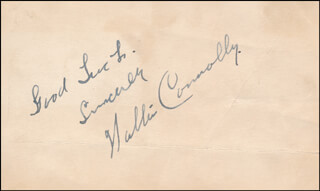 WALTER CONNOLLY - AUTOGRAPH SENTIMENT SIGNED