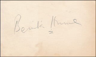 BENITA HUME - AUTOGRAPH CO-SIGNED BY: CONSTANCE COLLIER