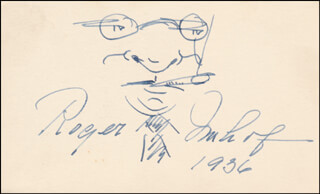 ROGER IMHOF - SELF-CARICATURE SIGNED 1936