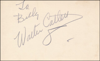 WALTER CATLETT - INSCRIBED SIGNATURE